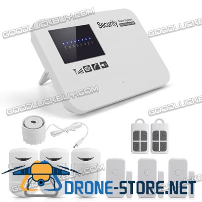Wireless GSM Home House Security Alarm System IOS Android APP Controlled White