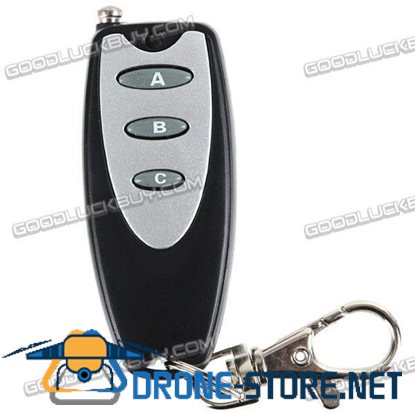 Universal Long Distance Wireless 3 Buttons Metal Remote Controller with Keychain Key Ring