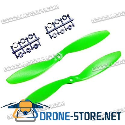 "GEMFAN 8x3.8"" 8038 8038R CW CCW Propeller Green For MultiCopter 2 Pairs"