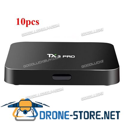 10x TX3 Pro S905X Android 6.0 Quad Core 1080p 4K Smart TV Box XBMC Player Fully Loaded
