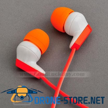 In-Ear Stereo Headphones Earphone for PC Laptop MP3 3.5mm Orange