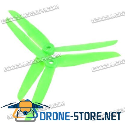 1 Pair Gemfan 7035 7035R 3-blade Rotating Reversed Propeller CCW CW Multi Rotor-Green