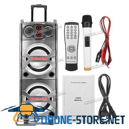 "10"" MS-M210 Bluetooth Karaoke Stereo MP3 Player Speaker KTV w/ Microphone"