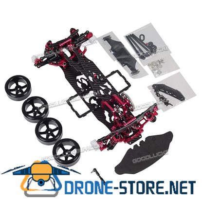 1/10 Alloy & Carbon SAKURA D4 RWD Drift Racing Car Frame Body Kit D4RWD