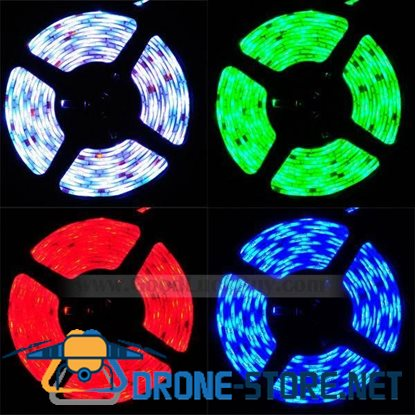 10M Flexible RGB SMD 5050 300 LED Strip Light Waterproof w/Remote+Power