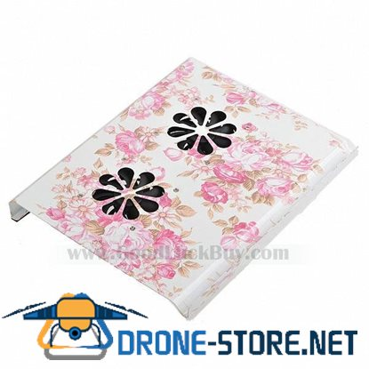 USB 2 Fans Cooler Cooling Pad for Laptop Notebook Flower Guard Panel