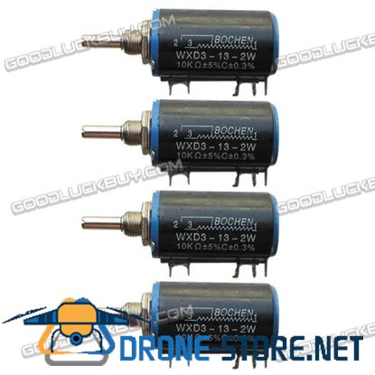WXD3-13-2W 10K ohm Rotary Multiturn Wirewound Potentiometer