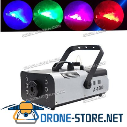 1500W Fog RGB 3in1 8 LED DJ Stage Wedding Smoke Machine Wireless Remote
