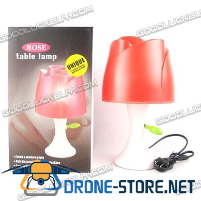 Novelty Design Deco Lamp Rose Shape Table Bedroom Lamp light Red