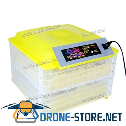 112 Eggs Chicken Goose Incubator Automatic Egg Incubator Poultry Hatcher + Candler