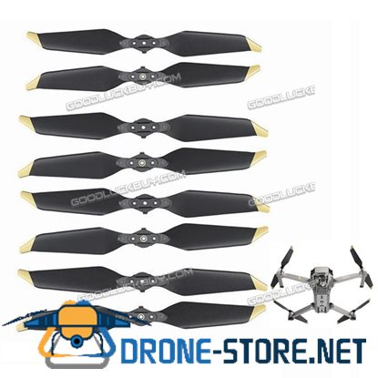 4 Pairs Original Platinum Low-Noise Quick-Release Propellers for DJI Mavic Pro Drone Gold