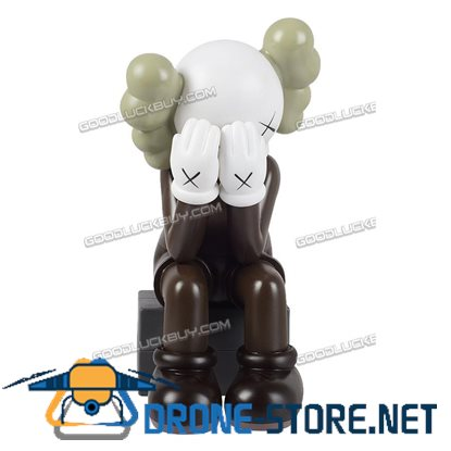 28CM KAWS Passing Through Companion Medicom Action Figures Toy Brown