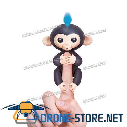 New Fingerlings Interactive Baby Monkey Sound Finger Motion Hanger Toy Gift  Black
