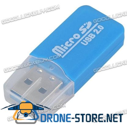 Micro SD Card Reader with USB 2.0 High Speed Interface-Blue