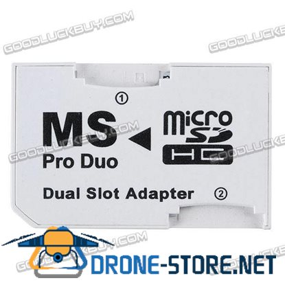 Micro SD TransFlash TF to MS Pro Duo Memory Card Dual Slot Adapter