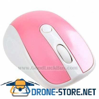10M 2.4G USB Wireless Optical Mouse for PC Laptop Pink