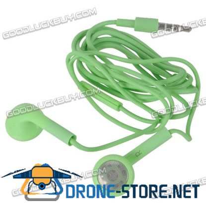 Green Headset Earphone Headphone Earbuds 3.5mm for Tablet Phone MP3 MP4