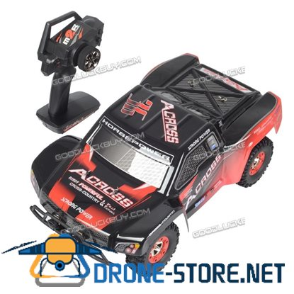 New Wltoys 12423 1/12 2.4G 4WD Electric Brushed Short Course RTR RC Car Gift
