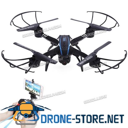 SKD20W WiFi FPV 2MP Camera 2.4GHz 4 Channel 6 Axis Gyro Helicopter 3D Roll Black