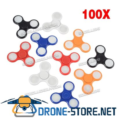 100X Wholesale Lot 3 LED Light UP Fidget Hand Tri Spinner Finger EDC Focus Toys