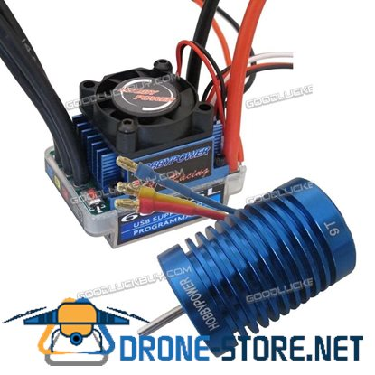 1/10 1/12 Brushless Combo RC Racing 60A ESC Brushless Speed Controller +9T Motor Tamiya Head
