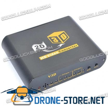 2D to 3D HD 1080P Video Converter with 3D Glasses / Remote Control