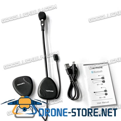 Vnetphone V1-1 Waterproof Bluetooth Motorcycle Headset for Rider 10M