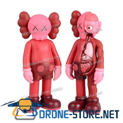 27cm Kaws Companion Body Red Flayed Open Blush Edition 2017 Figure Set Medicom Toy 2pcs