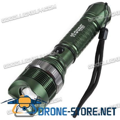 250lm CREE Q5 LED Flashlight Torch Lamp+ Battery Holder 18650 Tube&Clip
