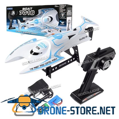 High Speed RC Racing Boat Double Horse 7016 2.4G 4CH RTF Blue