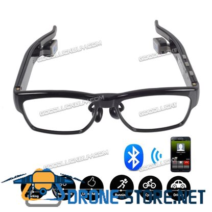 Bluetooth Wireless Bone Conduction Headphone Myopia Glasses for HTC LG Iphone