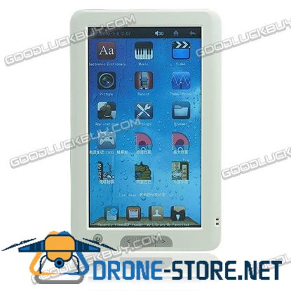 7 inch E-book Reader TouchScreen Ebook Mp3 Mp4 Player 4GB