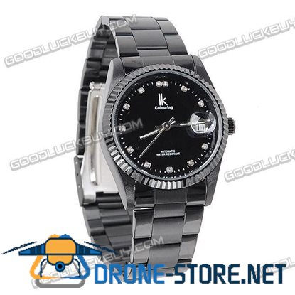Stainless Steel Automatic Mechanical Men Wrist Watch IK Colouring 98123