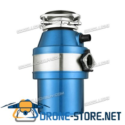 1 HP 2600 RPM Household Garbage Disposer Kitchen Waste Disposal Operation Blue