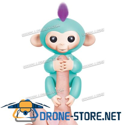 New Fingerlings Interactive Baby Monkey Sound Finger Motion Hanger Toy Gift  Green
