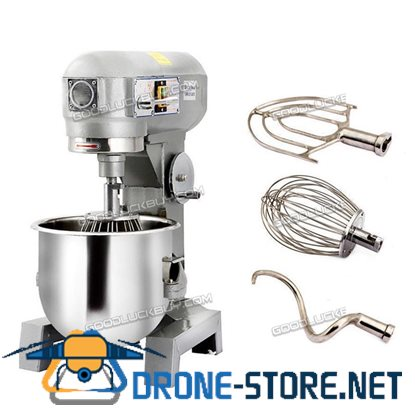 580W Three Speed 15Qt Commercial Dough Food Mixer Gear Driven Pizza Bakery 15L
