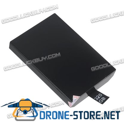 320GB Internal Slim HDD Hard Disk Drive for Microsoft XBOX 360 Black