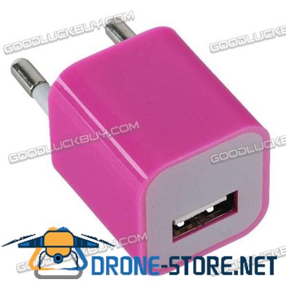 100-240V 1A 3G Power Adapter Plug Travel Adapter with USB Port-Rose Red