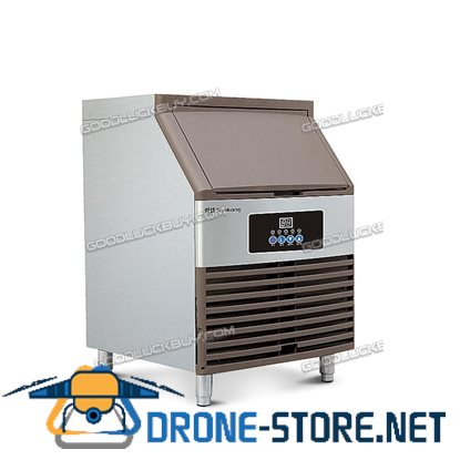100KGs  SK-100FA Auto Commercial Ice Maker Cube Machine Stainless Steel 5*14 Cubes