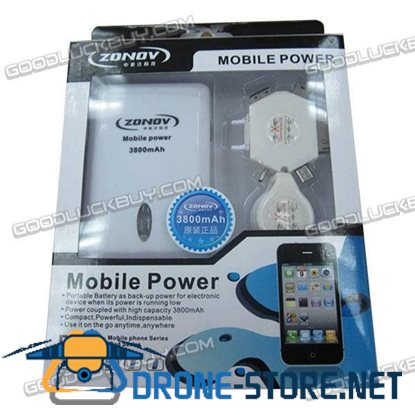 ZNT-1110 Portable Power Bank Standby Battery for ipad Mobilephone 3800mAh