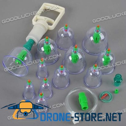 Pull out Avacuum Apparatus 12 Pcs Set Health Therapy Tool