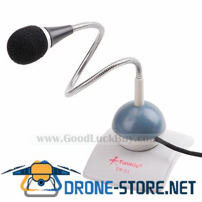 3.5mm Flexible Microphone Desk Mic for Laptop PC