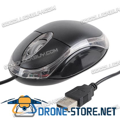 Intel Optical Mouse Mice USB 3 Button for PC & laptop 800dpi