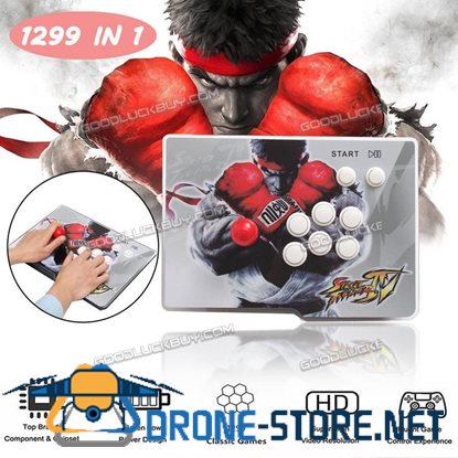 1299 In1 LED Home Arcade Game Console Gamepad Single Joystick Fighting Stick
