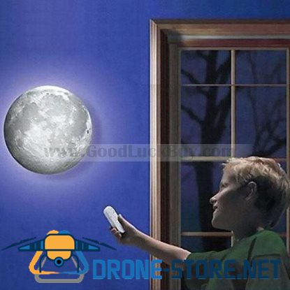 Romantic Healing Moon Mood Night Light LED Wall Lamp w/Remote