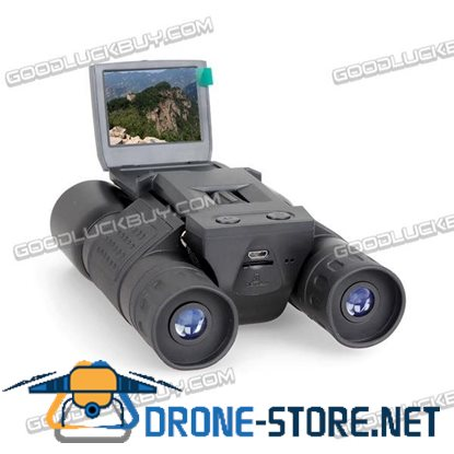 "Eyoyo 2"" LCD Screen 12X32 Zoom Digital Telescope Binoculars w/ Built-in 720P Video DVR Camera"