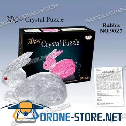 3D Crystal Furnish Rabbit Jigsaw Puzzle IQ Gadget 56pcs