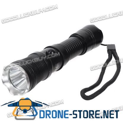 D11R5 Q5 LED Light Bulb 550lm Aluminum Alloy Rechargeable Flashlight Torch 3-Mode Black