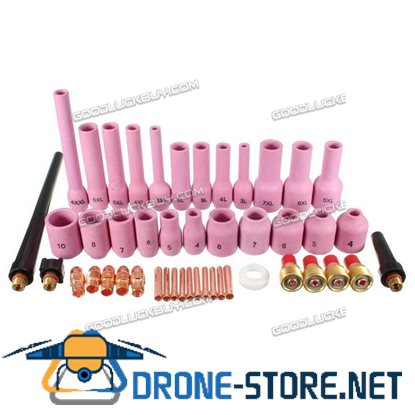 46Pcs TIG Gas Lens Collet Body Assorted Size For SR WP9 20 25 TIG Welding Torch