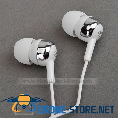 In-Ear Stereo Headphones Earphone for PC Laptop MP3 PMP 3.5mm White